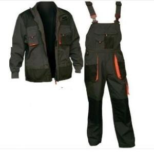 Ubranie Robocze Męskie Ocieplane Promaster Kurtka Robocza Zimowa Długa + Spodnie Robocze Ogrodniczki Ocieplane Reis Komplet