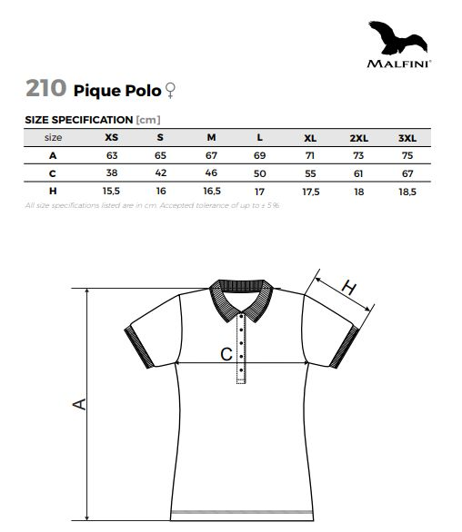Koszulka Polo Damska Robocza Reklamowa Adler Model 210 Gramatura 200 g Cytrynowa